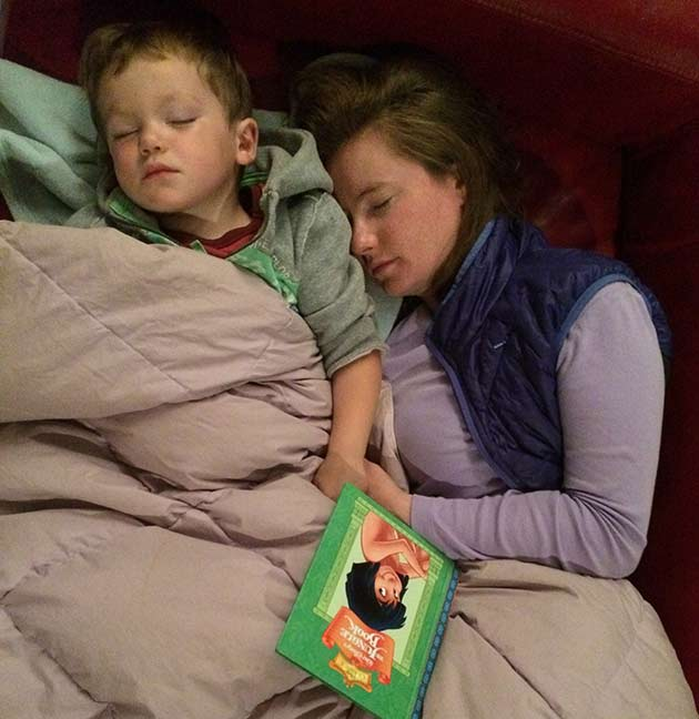 JUNGLE BOOK_mom_conor_asleep_reading